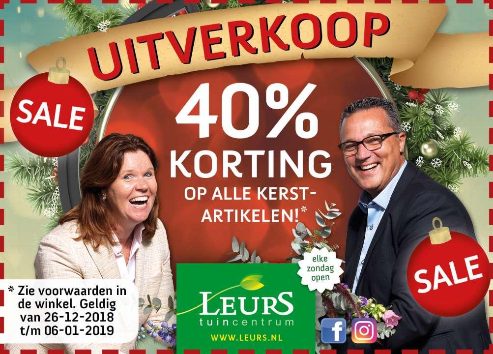 Kerstsale 40 Korting Activiteiten Tuincentrum Leurs