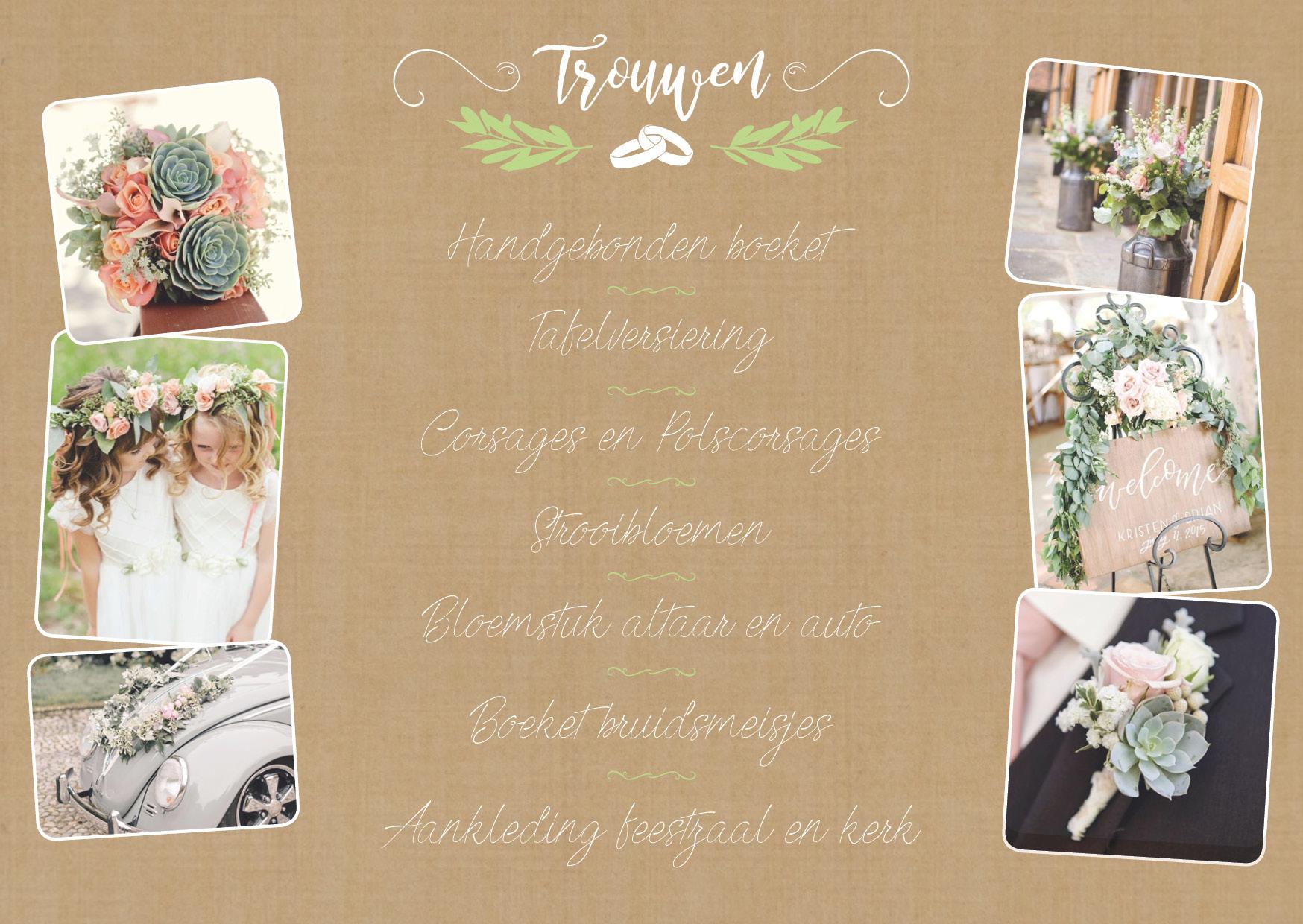 Bruidswerk Bloemen Producten Tuincentrum Leurs