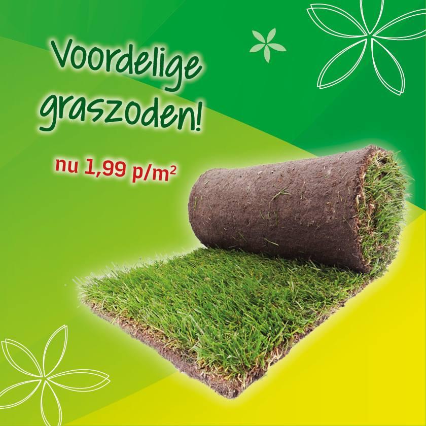 Voordelige graszoden bij Tuincentrum Leurs in Limburg