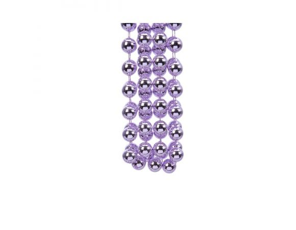 plastic bead garland XXL frosted lilac