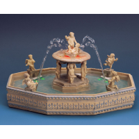 LIGHTED VILLAGE SQUARE FOUNTAIN W/4.5V ADAPTO